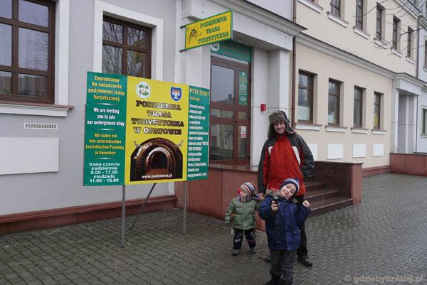 Podziemna Trasa Turystyczna w Opatowie - wejście.