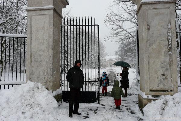 Brama do pałacu w Nieborowie.
