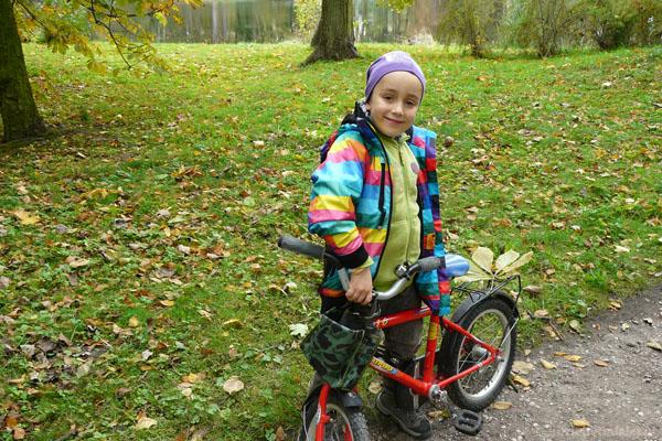 Jesienny rowerzysta.
