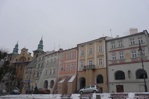 Mieszczańskie kamieniczki (XVI-XVIII) w Przemyślu.