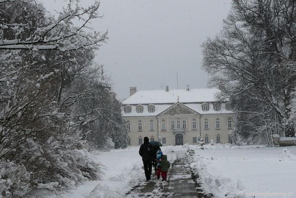 Pałac w Nieborowie (barokowy, kon. XVII w, przeb.).