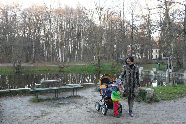 Park miejski w Podkowie Leśnej.