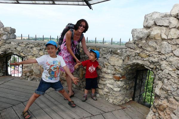 Na wieży iłżeckiego zamku.