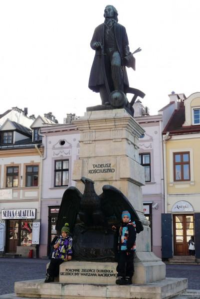 Pomnik Tadeusza Kościuszki.