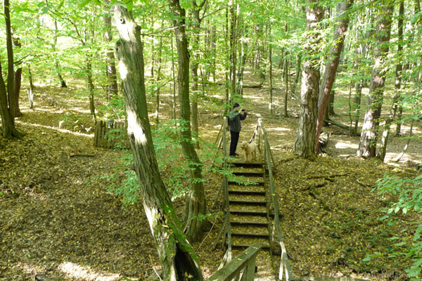 Brzegi grodziska są bardzo strome.