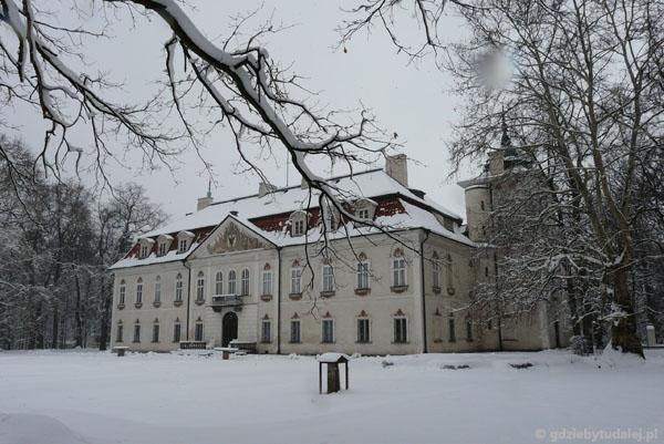 Pałac w Nieborowie od strony ogrodu.