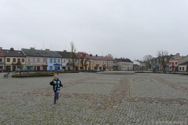 Trójkątny Mały Rynek w Łowiczu.