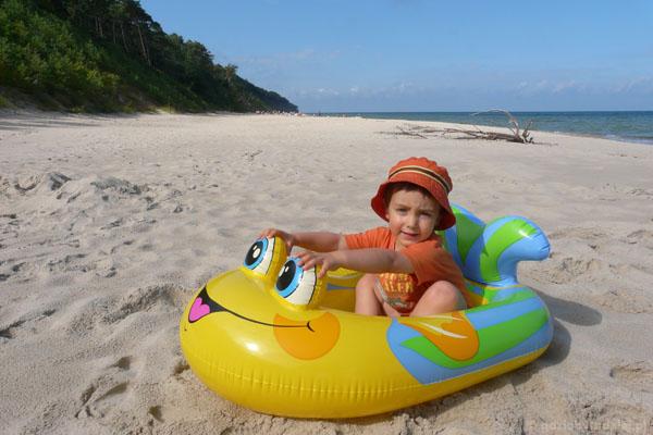 Popołudniowe plażowanie