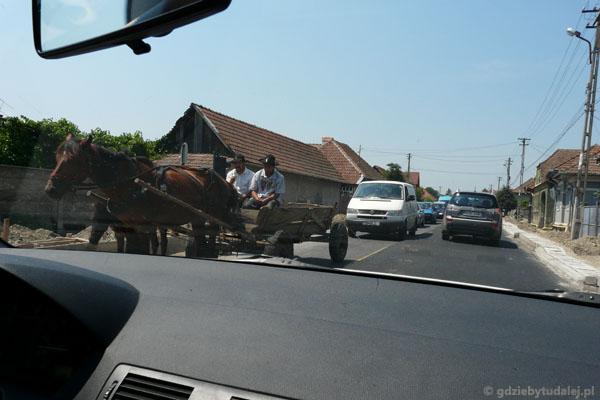 Rumunia z samochodu.