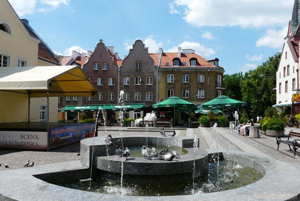 Na Rynku w Olsztynie.