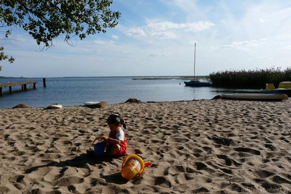Plaża w Wolinie (Zalew Szczeciński).