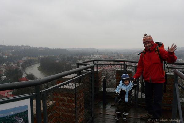 Widok na Cieszyn z Wieży Piastowskiej.