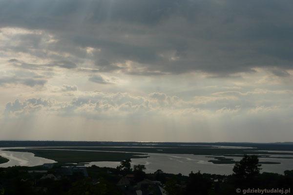 Widok na wsteczną deltę Świny.