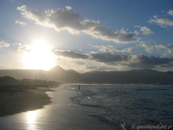 Plaża w Ammoudarze.
