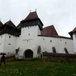 Warowny 'biały kościół' w Viscri (średniowieczny).