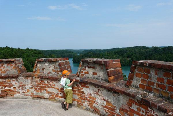 Widoki z łagowskiej wieży.