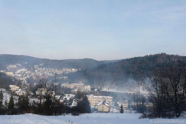 Na Górę Krzyżową - widok - Krynica.