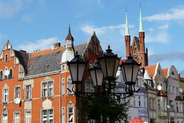 Okolice rynku w Świebodzinie.