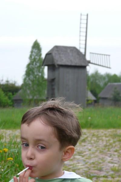 Skansen w Białowieży.