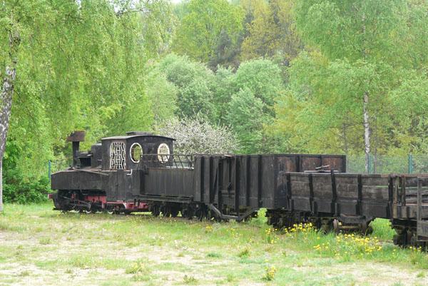 Skansen kolejki wąskotorowej w Hajnówce.