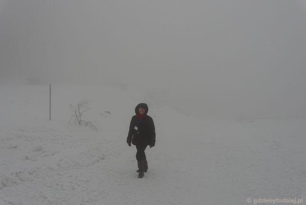Skrzyczne we mgle.