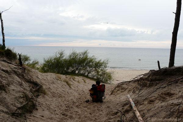 Plaża w WPN (dojście z Wisełki).