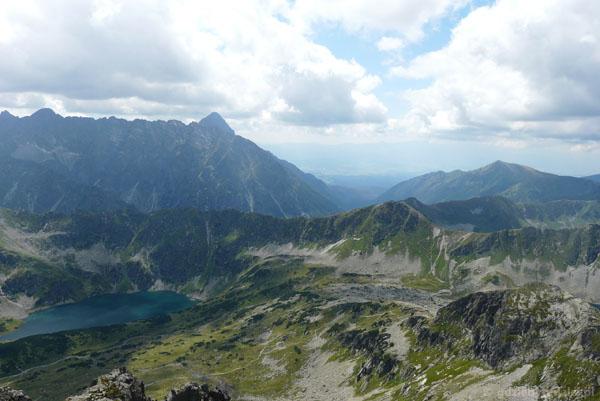 Widok na Cichą Przełęcz z Koziego Wierchu.