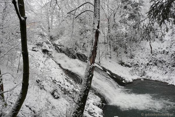 Wodospad Sopotnia - najw. w Beskidach.