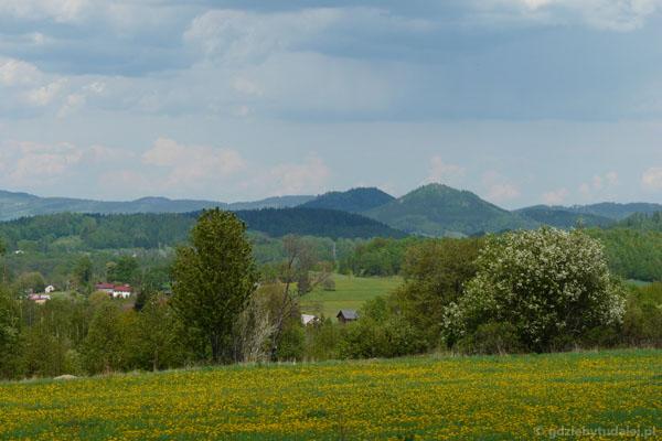 Góry Sokole od strony Karkonoszy.