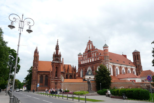 Gotyckie kościoły w Wilnie - Św. Anny i Berndynów.