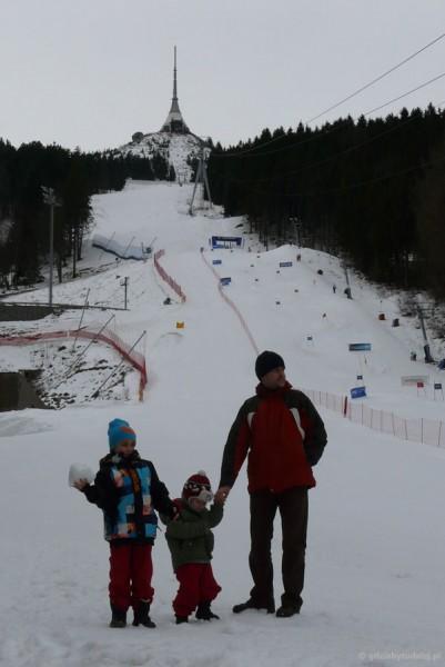 Liberec - Jested z niesamowitą wieżą i trasą narciarską.