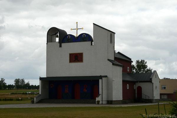 Oryginalna grekokatolicka cerkiew w Białym Borze (J.Nowosielski).