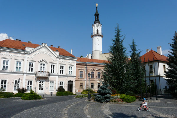 Plac staromiejski w Veszprem.