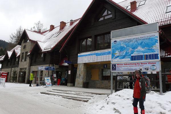 Stacja narciarska Wierchomla.