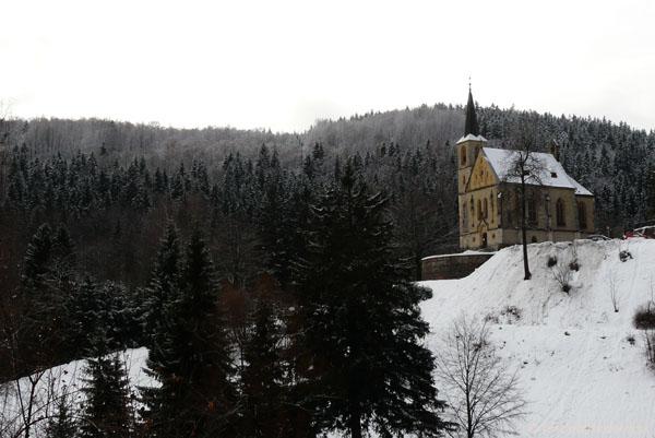 Kościół katolicki w Janskich Lazniach.