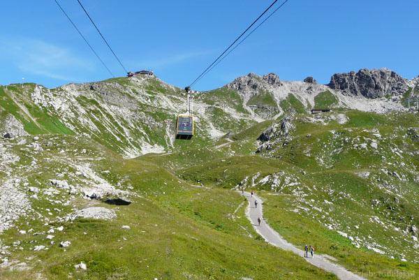 Kolejka z Oberstdorfu na Nebelhorn.