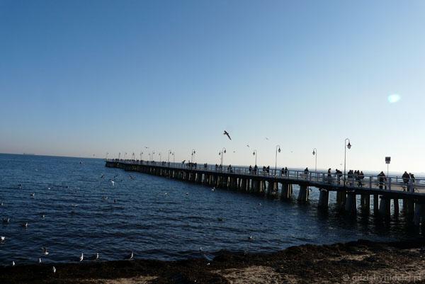 Molo w Gdyni-Orłowie.