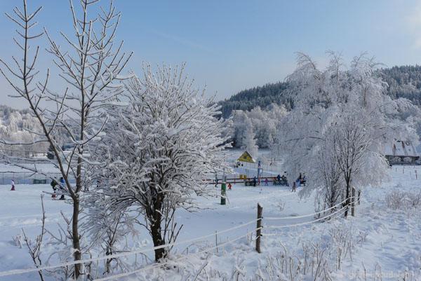 ON Czarna Góra w zimowej aurze.