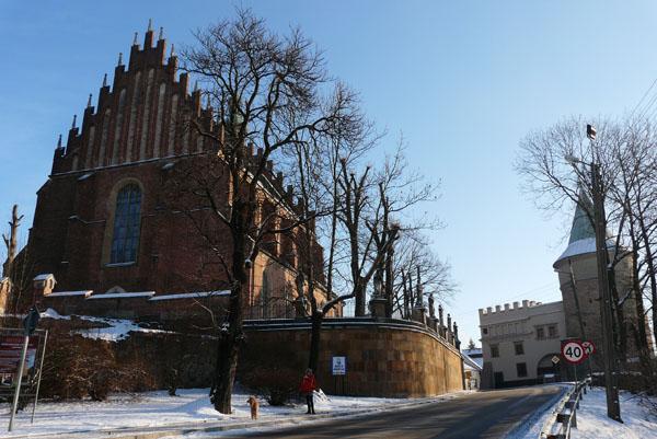 Późnogotycki kościół i dzwonnica obronna.