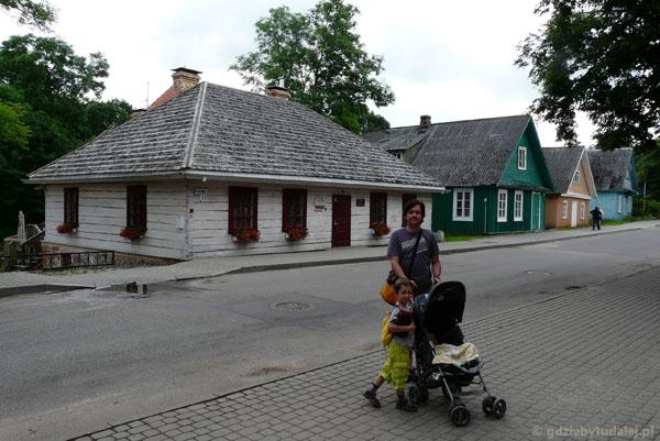 Ulica karaimska i domy Karaimów.