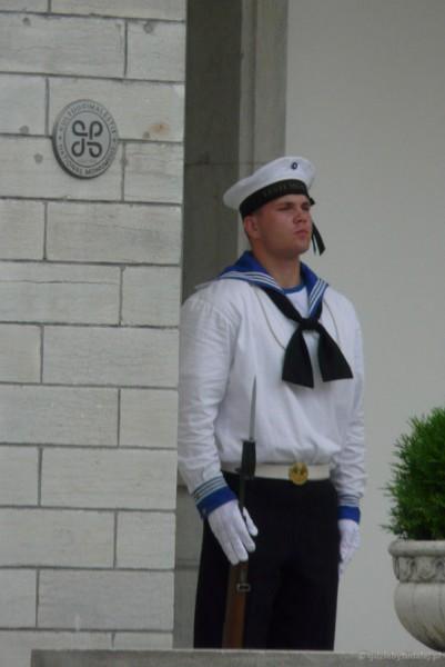 Estoński wartownik.
