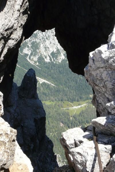 Największe okno skalne w Alpach.
