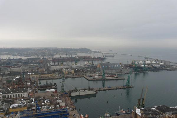 Widok na port w Gdyni.