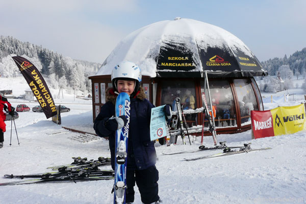 Zakończenie kursu narciarskiego.