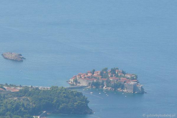 Jeszcze jedno spojrzenie na wyspę Sveti Stefan.