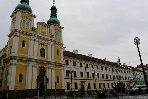 Kościół Wniebowzięcia NMP i pałac biskupi (XVIII w).