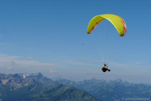 Rejon Nebelhornu to mekka paralotniarzy.