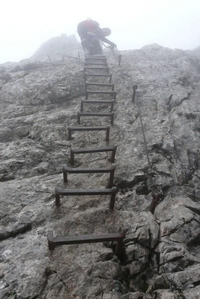 Via ferrata na Alpsitze.
