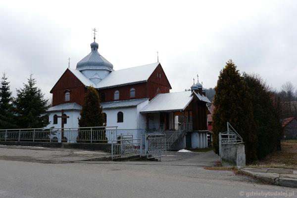 Cerkiew grekokatolicka w Komańczy.