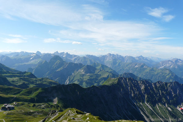 Południowo-wschodnie otoczenie Nebelhornu.